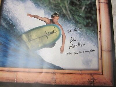 "SIGNED! COLIN Mc PHILLIPS LONGBOARD SURFING POSTER 1999 WORLD CHAMPION 30"" x 13"""