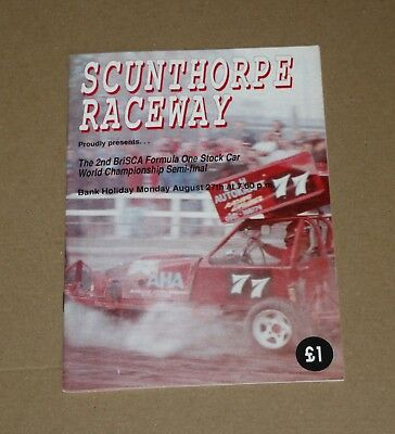 1990 Scunthorpe Brisca F1 semi final programme, 27 August