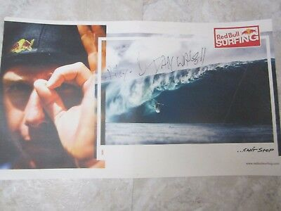 SIGNED! RED BULL SURFING IAN WALSH 19'' x 11''