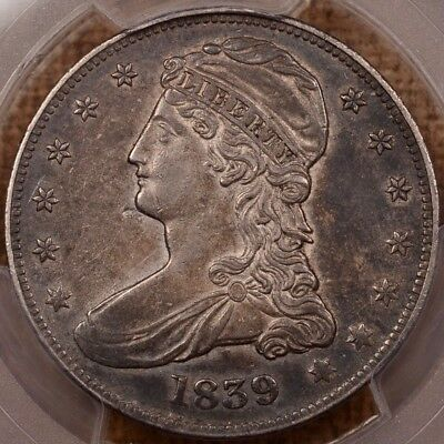 1839 GR-7 Reeded Edge Bust half, PCGS XF45, last of series   DavidKahnRareCoins
