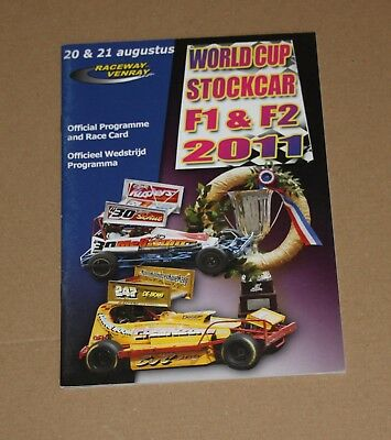 2011 Venray Brisca F1 & F2 World Cup programme 20/21 August