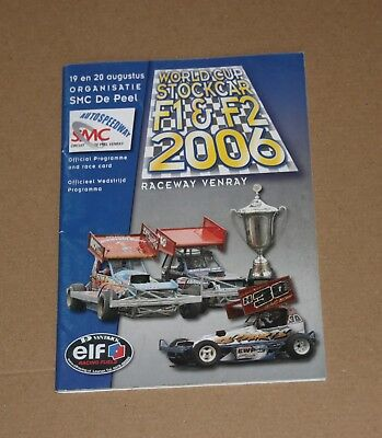 2006 Venray Brisca F1 & F2 World Cup programme 19/20 August