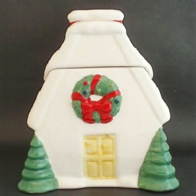 Ceramic Christmas House Collectible Cookie Jar