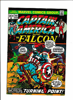 "Captain America #159  [1973 Vg+]  ""turning Point!"""