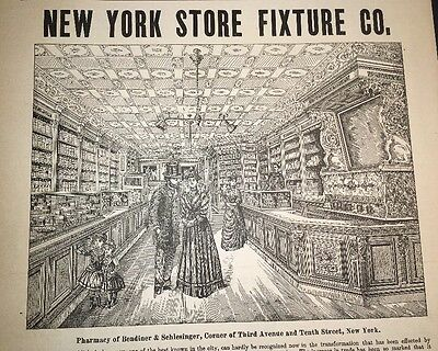 New York Druggists Illustrated 1892 Ad Drug Stores Fixtures Superb