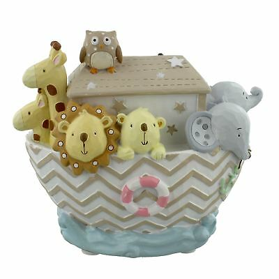 Noah's Ark and Animals Resin Baby Money Bank Boat CG1251