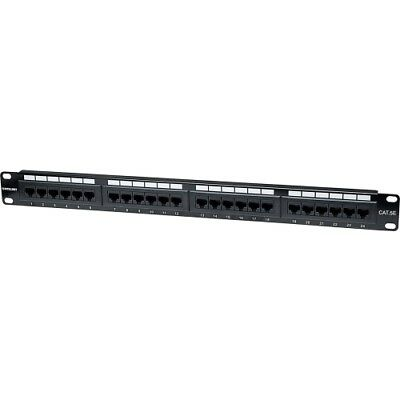 NEW Intellinet 513555 Cat5e Patch Panel Network 24 Port CAT5e