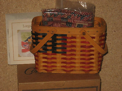 Longaberger Very Rare Collector Club Miniature Flag All American Basket complete