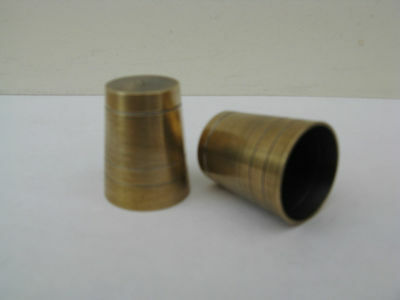 TWO  SOLID BRASS ULTRA  FERRULES ALL ONE PRODUCTION FOR WALKING STICKS   20.5 mm