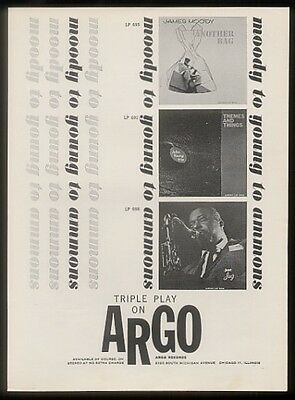 1962 Gene Ammons James Moody album photos Argo print ad