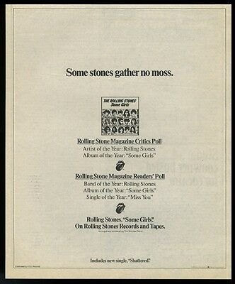 1979 The Rolling Stones Some Girls album pic vintage print ad