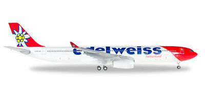 Edelweiss A330-300 (HB-JHR), new livery, 1:200 Herpa
