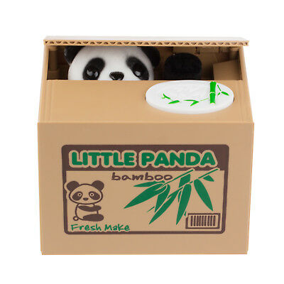 Little Panda Automated Stealing Coin Piggy Home Bank Storage Saving Box Kid Gift