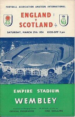 England v Scotland (Amateur International Wembley) 1954