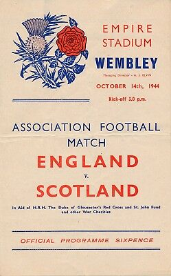 England v Scotland (War-Time International 14.10) 1944
