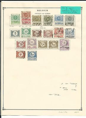 Belgium Collection Postage Dues 1895-1938 on 2 Scott International Pages