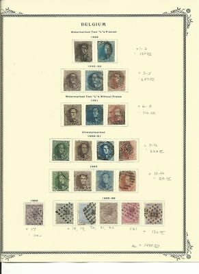 Belgium Collection 1849 to 1866 on Scott Specialty Page, SCV $1495