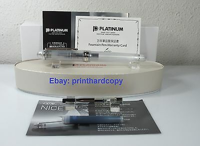 Platinum Limited Edition 3776 Nice Pur Demonstrator Fountain Pen Silver 14K nib