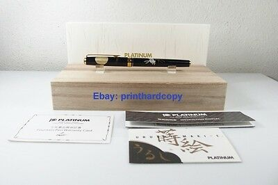 New Platinum Maki-e Slim The Moon and A Rabbit Fountain Pen 18k Gold Nib