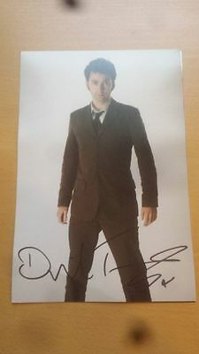 DAVID TENNANT HAND SIGNED PHOTO 12 x 8 DOCTOR WHO DR WHO COA