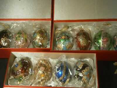 12  - Joan Rivers Russian Style Egg Ornaments - 3 Boxes Of 4  - All Different