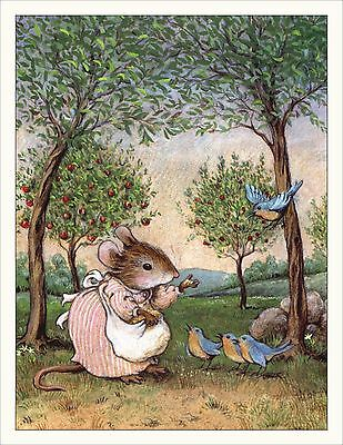 Wee Forest Folk Note#4 - Feeding the Bluebirds Note Cards Set of 6