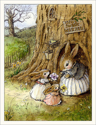 Wee Forest Folk Note#20- Home Sweet Bunny Note Cards Set of 6