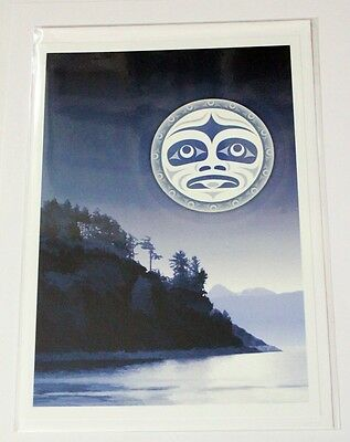 Salish Moon Andy Everson Art Pacific North West Coast Native American Indian