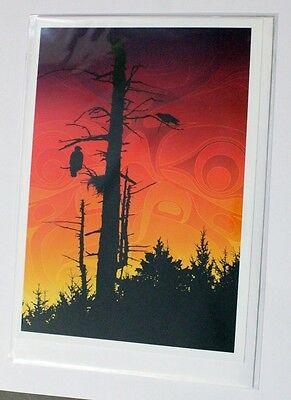 Sunset Summit Andy Everson Art Pacific North West Coast Native American Indian