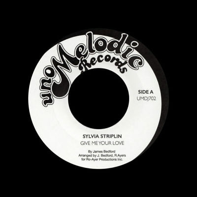 """Sylvia Striplin You Cant Turn Me Away / Give Me Your Love 45 7"""""""