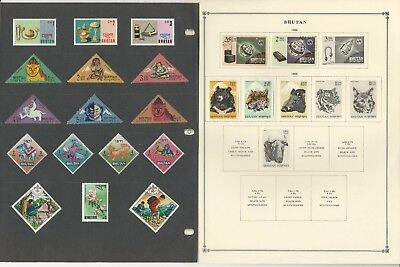 Bhutan Collection 1954-1969 on Scott International & Minkus Global Pages