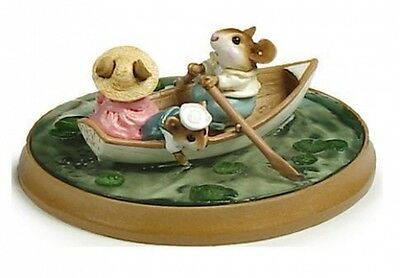 Wee Forest Folk PM-6 Forget-Me-Knot White Boat Retired