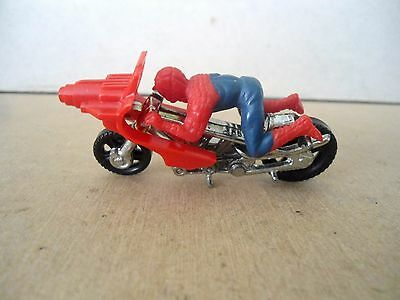 Corgi Juniors Spiderman Motorcycle & Spiderman Figure , VNM Vintage Items