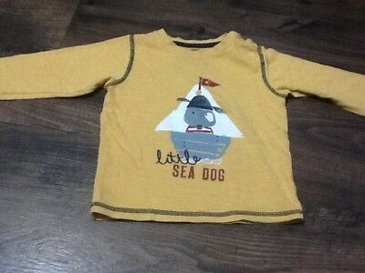 Baby Boys Size 18-24 Months Mustard Little Sea Dog Long Sleeved Top