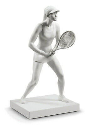 New Lladro Lady Tennis Player (White) #9282 Brand New In Box Large Save$ F/sh