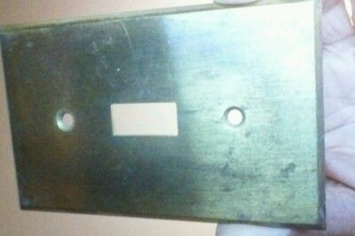 VINTAGE Square Hole Toggle Switch Plate    OLD STOCK  solid Brass