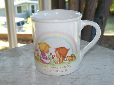 1983 BETSEY CLARK Friends Make Your Day Coffee Cup Mug