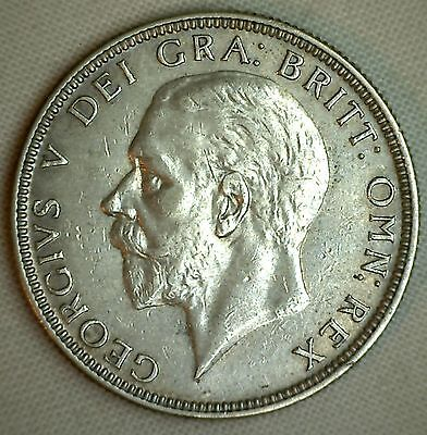 1930 Silver British Florin 2 Schilling UK Great Britain English Coin Extra Fine