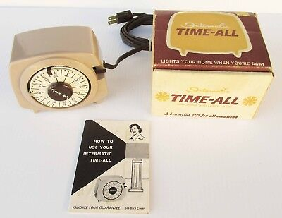 Vintage Intermatic Time-All  Mid Century Electric Timer Control with Box Papers