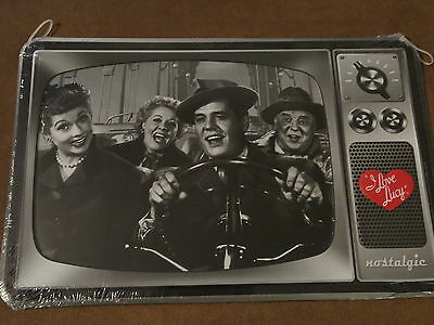 "I Love Lucy Nostalgic Tin Metal Sign-Approx. 13"" X 8 1/2""-New"