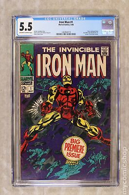 Iron Man (1968 1st Series) #1 CGC 5.5 1464964019