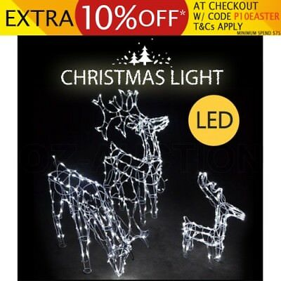 3 Piece LED Reindeer Christmas Family Home Party Decor Lights Xmas Lighting