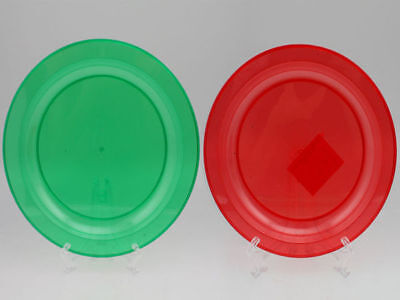 96 x chistmas dinner plate plastic 27cm red & green assorted bulk wholesale lot