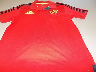 "Munster Rugby - Official Adidas Polo Shirt - 38/40 ""  - See Desc For Sizing"