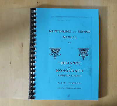 AEC.Reliance and Monocoach.Maintenance and service manual.
