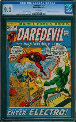 Daredevil # 87  From Stage Left: Enter Electro !  CGC 9.2 scarce book !