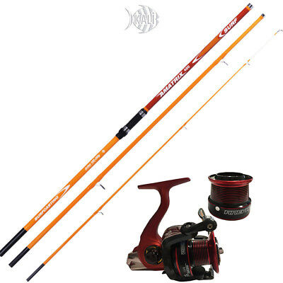 KP2591 Kit Pesca Canna Surf Kali Amatrix 420 200gr Mulinello Globe Fishing CAS