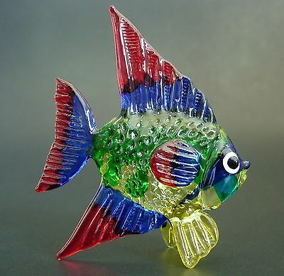 Glass fish spiky bubble glass puffer fish tinted blue for Painted glass fish