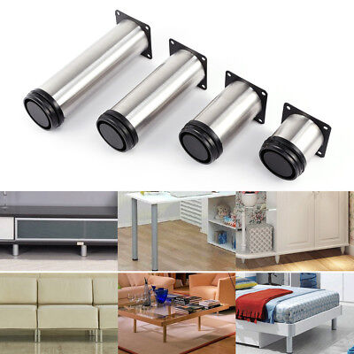4pcs 6 to 18cm Stainless Steel Furniture Legs Adjustable Cabinet Sofa Table Feet