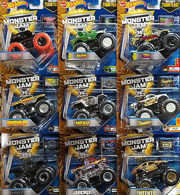 MATTEL® HOT WHEELS® Monster Jam® Modelle TEAM FLAG! Sortiment in 1:64 (2016)